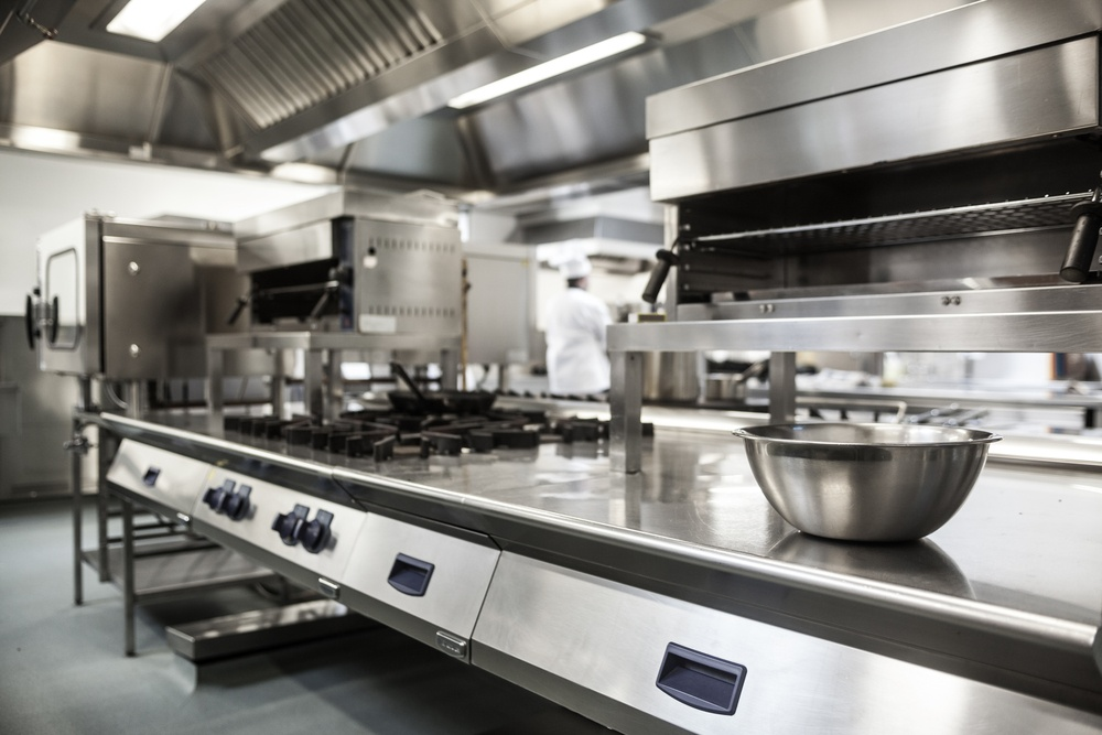 Maintainging a clean commerical kitchen reduces the risk of foodborne bacteria.
